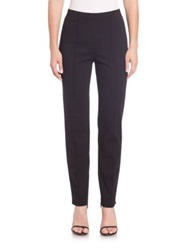 St. John Cropped Pintuck Pants Black