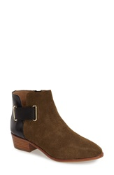 Yosi Samra 'Drew' Bootie Women Military Green