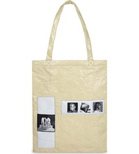 Rick Owens Medium Patch Pure Cotton Tote Beige