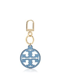 Tory Burch Perforated Logo Key Fob Tory Navy Gold
