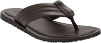 Barneys New York Leather Thong Sandals Brown