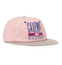 Cav Empt Embroidered Cotton Twill Baseball Cap Pink