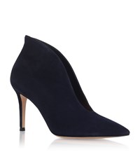 Gianvito Rossi Vania Suede High Back Ankle Boots Female Denim