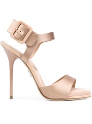 Paul Andrew 'Kalida' Sandals Nude And Neutrals