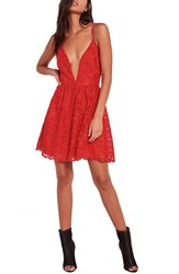 Missguided Women's Lace Skater Dress