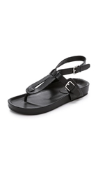 Belle By Sigerson Morrison April Leather Sandals Black