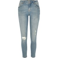 River Island Womens Light Wash Alannah Relaxed Skinny Jeans