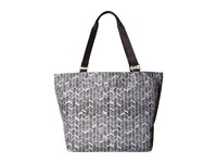 Baggallini Carryall Tote Black And Grey Chevron Tote Handbags Gray