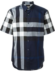 Burberry Brit Checked Shortsleeved Shirt Blue