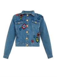House Of Holland Flower Applique Denim Jacket