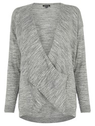 Warehouse Twist Drape Tunic Grey