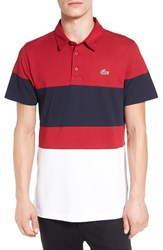 Lacoste Men's Colorblock Ultra Dry Golf Polo