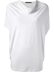 Kai Aakmann Cowl Neck Blouse White