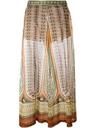 Valentino Tribal Print Palazzo Pants Multicolour