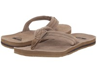 Quiksilver Carver Suede Deluxe Tan Solid Men's Sandals
