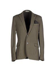 Manuel Ritz White Suits And Jackets Blazers Men Military Green