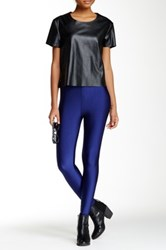 American Apparel Nylon Tricot High Waist Legging Blue