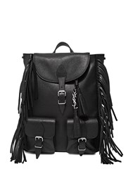Saint Laurent Leather Fringed Backpack