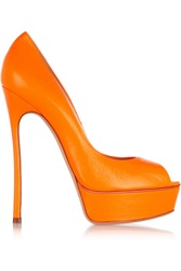 Casadei Neon Leather Pumps