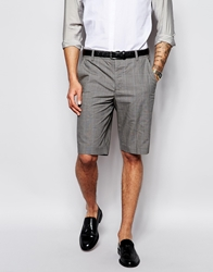 French Connection Formal Prince Of Wales Check Shorts Grey