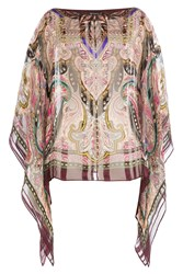 Etro Printed Silk Tunic Blouse Multicolor