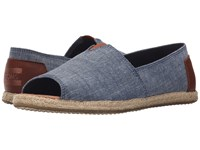 Toms Alpargata Open Toe Chambray 2 Women's Flat Shoes Blue