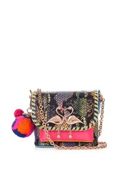 Sophia Webster Claudie Embellished Snakeskin Cross Body Bag Multi