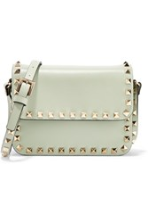 Valentino The Rockstud Mini Leather Shoulder Bag Mint