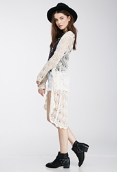 Forever 21 Open Knit Cardigan Cream