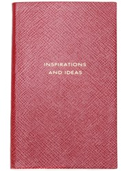 Smythson 'Inspirations And Ideas' Panama Notebook Red