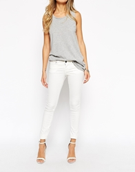 Noisy May Low Waist Skinny Jeans White