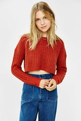 Ecote Amelia Cropped Sweater Red