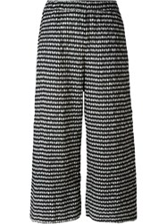 Studio Nicholson 'Venetto Check' Straight Trousers Black