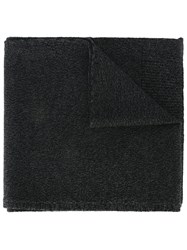Dolce And Gabbana Heathered Knit Scarf Black