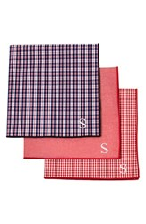 Cathy's Concepts Personalized Handkerchiefs Red Set Of 3