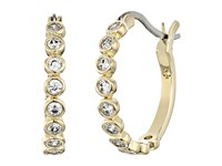 Kate Spade Full Circle Small Hoops Earrings Clear Gold Earring