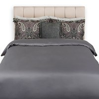 Gant Solid Sateen Duvet Cover Grey King
