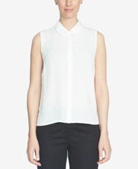 Cece Sleeveless Collared Top New Ivory