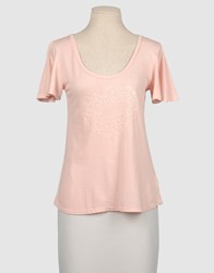 Juicy Couture Topwear Short Sleeve T Shirts Women Pink