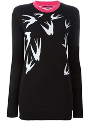 Mcq By Alexander Mcqueen Swallow Intarsia Jumper Black