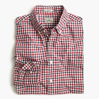 J.Crew Tall Secret Wash Shirt In Red And Blue Check