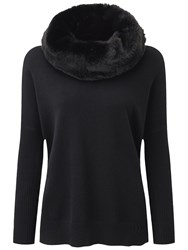 Pure Collection Houston Hooded Poncho Black