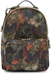 Valentino Multicolor Butterfly Camouflage Medium Backpack