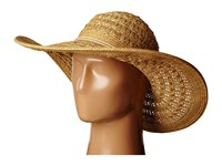San Diego Hat Company Pbl3029 Open Weave Floppy Sun Hat With Double Anchor Cord Trim Natural Caps Beige