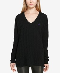 Polo Ralph Lauren Cable Knit Sweater Polo Black