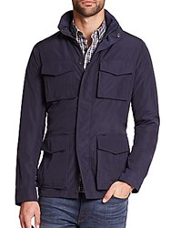 Michael Kors Hooded Utility Jacket Midnight