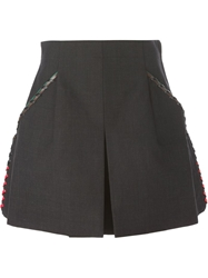 Toga Pulla Lace Up Detail Shorts Grey