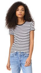 Splendid Cerine Slub Stripe Tee White Black