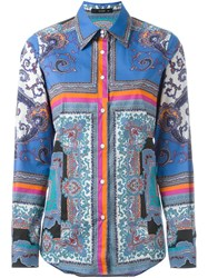 Etro Mixed Print Shirt Multicolour
