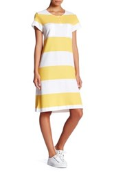 Joan Vass Stripe Pique Dress Petite Multi